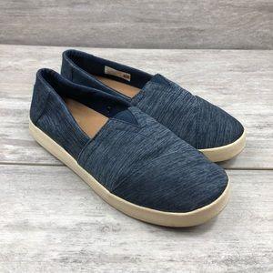 Toms blue jean style loafer slip on